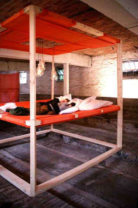 Wood Industrial Bed Frame