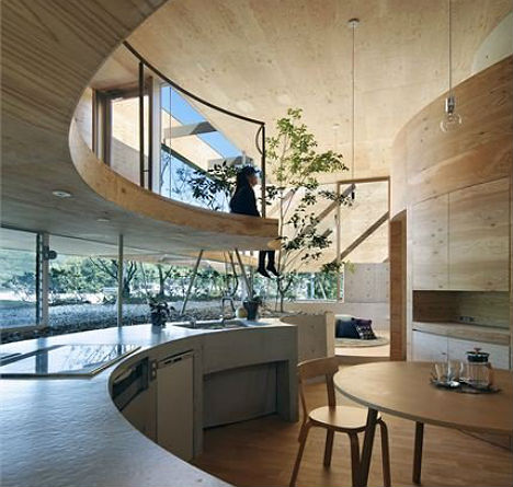 Pit House Provides Privacy with Round Elevated Design