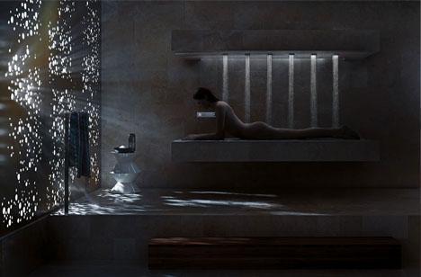 Sleek Horizontal Shower: Bathing in the Best of Both Worlds