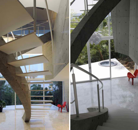 Stacked Concrete House Uses Space in Surprising Ways - image Stacked-Concrete-T-House-4 on http://bestdesignews.com