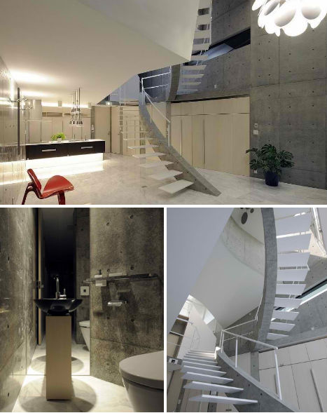 Stacked Concrete House Uses Space in Surprising Ways - image Stacked-Concrete-T-House-Tokyo-2 on http://bestdesignews.com