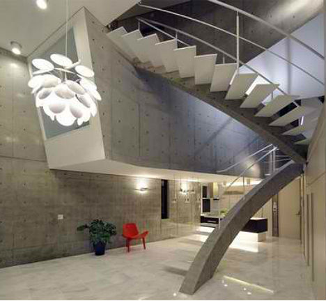Stacked Concrete House Uses Space in Surprising Ways - image Stacked-Concrete-T-House-Tokyo-5 on http://bestdesignews.com