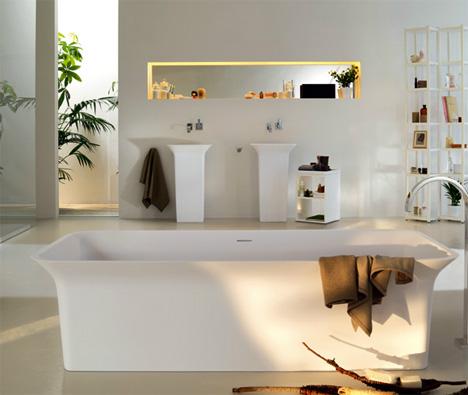 Crisp Clean Lines Define A Sophisticated Bathroom Suite