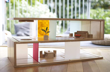 Crafty coffee table doubles as modular modern dollhouse for Ikea casa bambole
