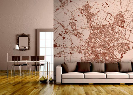 Custom Map Murals Make for Excellent Contextual Wall Decor