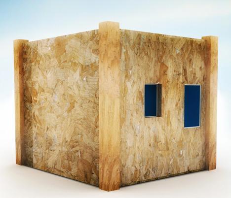 Unfolding Cube Prefab: Space-Doubling Emergency Shelter