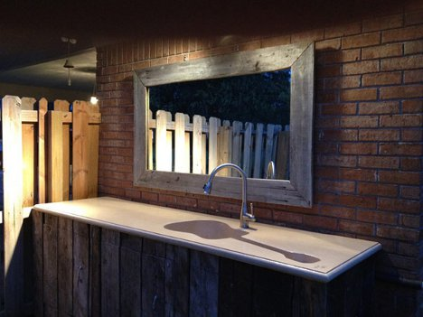 Custom guitar shaped kitchen sink for a harmonious home at eight feet long this one of a kind outdoor sink might not fit in every household but there is no reason that creative sinks like this should only be workwithnaturefo
