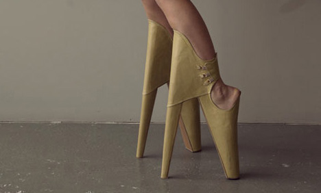 d42ab6fa6f28 Fashion … Forward  Tilted High Heels Are  Scary Beautiful