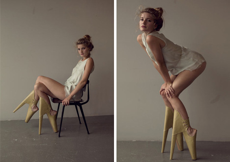 Fashion Forward Tilted High Heels Are Scary Beautiful