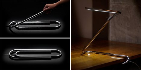 the paperclip lamp