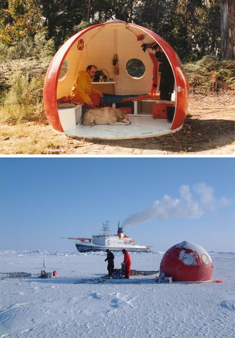 Tiny Home Designs: Portable Prefab Igloo: Modular Extreme-Weather Shelters