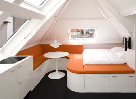 Sloped-Roof Micro-Apartment Makes the Most of Odd Angles