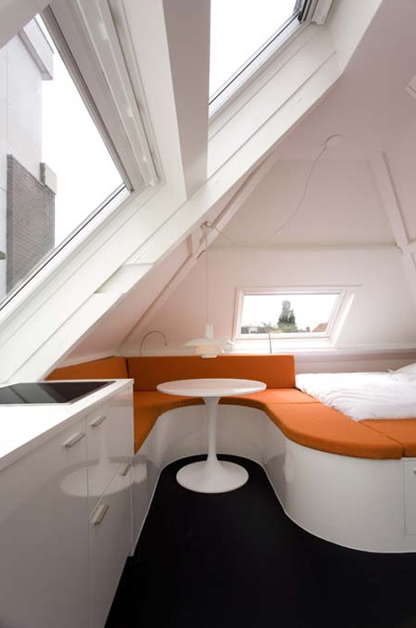 Sloped Roof Micro Apartment Makes The Most Of Odd Angles