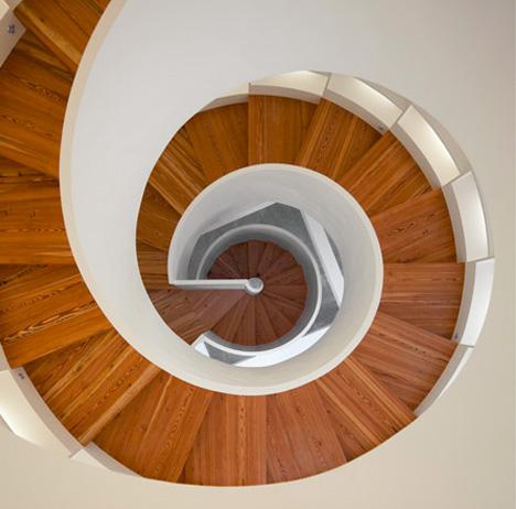 Central Spiral Staircase Has 6000 Book Shelving Capacity