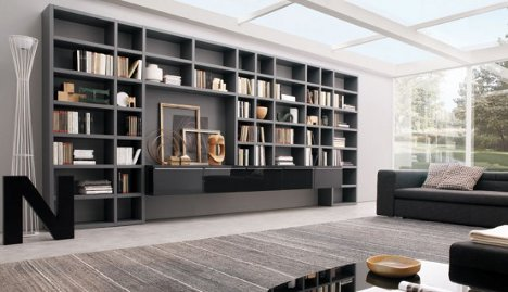 with natural walnut bookcases bookcase wall provincial htm madison and interior stain unit kate furniture french