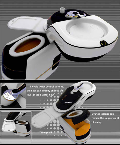 The Home Core Integrated Toilet By Dang Gingwei Takes The Same Tact As The  Fit System, Containing Sink And Toilet Functions Within A Single Unit And  Reusing ...