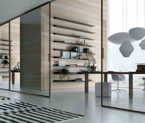 Sliding doors sleek room dividers separate spaces in style planetlyrics Gallery
