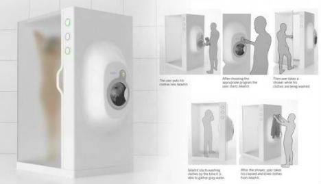 Nice Water Saving Appliance Is A Shower And Washer In One