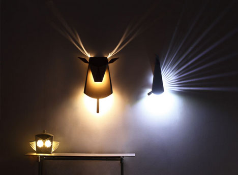 Animated Animalia Pop Up Books Inspire Playful Wall Lights