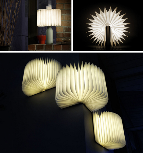 Light Book Delectable Literal Book Light Portable Lamp Unfolds Open Like Pages