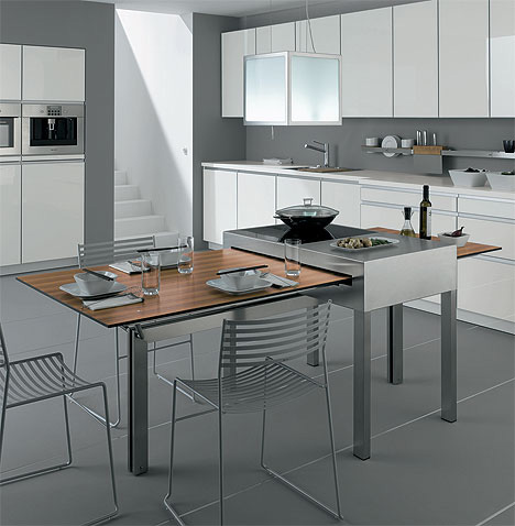 Kitchen Cooking Tables Combine Cooking + Dining Surfaces ...