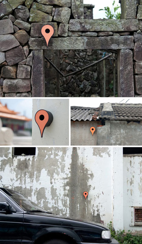 Avian Accommodations: Google Map Pin-Shaped Birdhouses