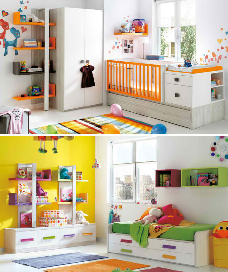 25 Kids Study Room Designs Decorating Ideas: Compact & Colorful Kids Room Design Ideas By KIBUC