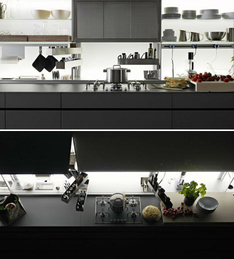 optimal kitchen design. Valcucine Painstakingly Researched The Ways In Which We Interact With Our  Kitchens Determining Best Possible Layout For Optimal Convenience And Sleek Self Contained Kitchen Design Disguises Clutter