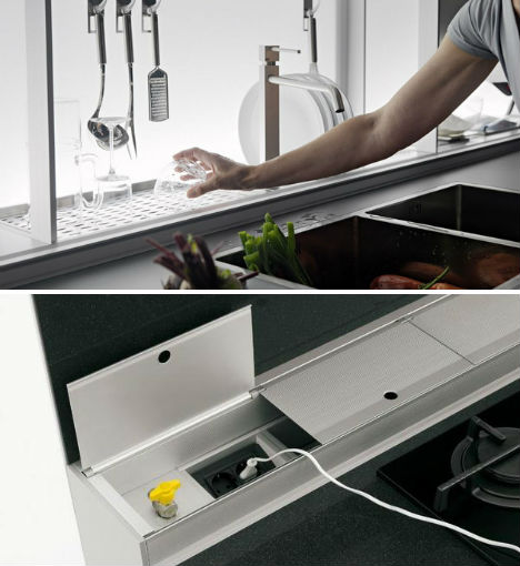 Amazing ... Hooks For Utensils, And Storage Space For Virtually Every Kitchen  Implement You Can Think Of As Well As A Cooker Hood, Monitor And Adjustable  Sockets.