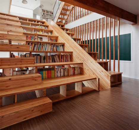 - Magnificent Staircase Is Also A Slide, Bookcase + Cinema