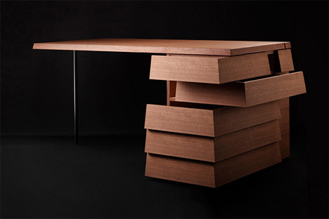 Visual: Gorgeous Desk Has Multi-Directional Drawers
