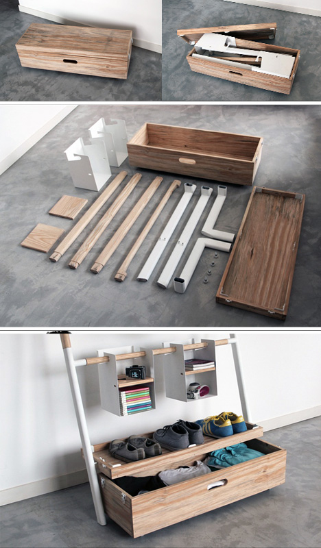 Nomadic Furniture: All-in-One Trunk for Guest Habitation