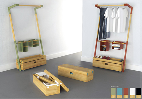 Nomadic Furniture: All-in-One Trunk for Guest...