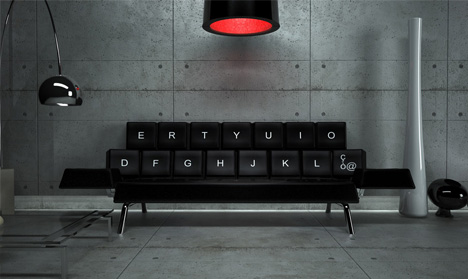 Destined to Be Dated: Cute QWERTY Futon Made for Geeks
