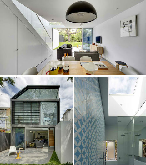 Modern Home Additions: Geometric Addition Extends Brick Home