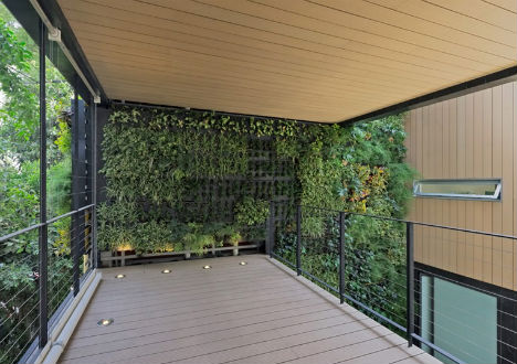 Three Story Interior Green Wall Breathes Life Into Home