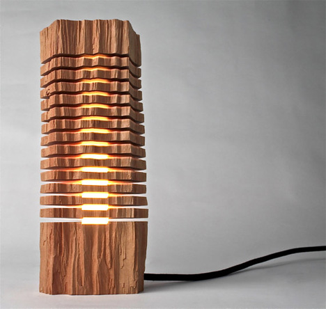 Split Wood Lamps Create Beautiful Fusion of Tech + Nature