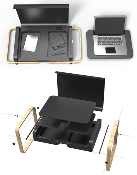 Store, Carry, Work: Portable Laptop Case Opens Into a Desk
