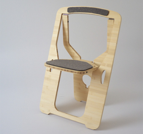 & Modern Update to the Folding Chair is Elegant + Sustainable