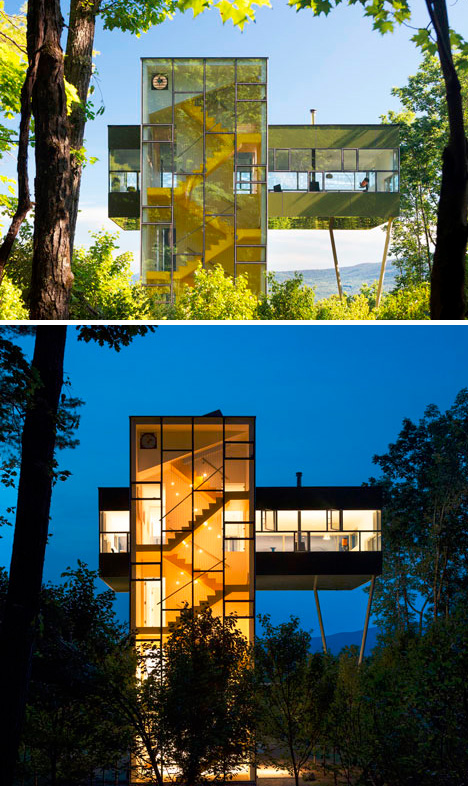 Tower House has Powerful Verticals, Horizontals & Views