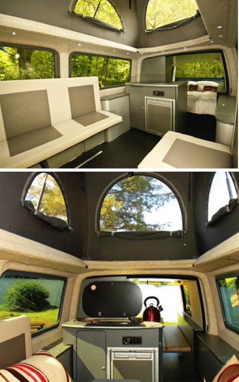Double Volume Van Compact VW Camper Pops Up Out