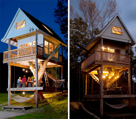 Three Story Tree House Is A Dream Backyard Getaway