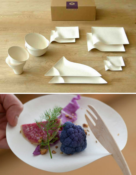 Non-wood Materials Such As The Pulp Of An Invasive Reed Plant And Sugarcane Waste This Single-use Tableware Series Is Simple Modern And Beautiful. & Fancy Disposable Tableware u0026 Plastic Plates Sc 1 St Oriental Trading