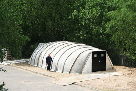 Just Add Water: Concrete Buildings Built With Air + H2O