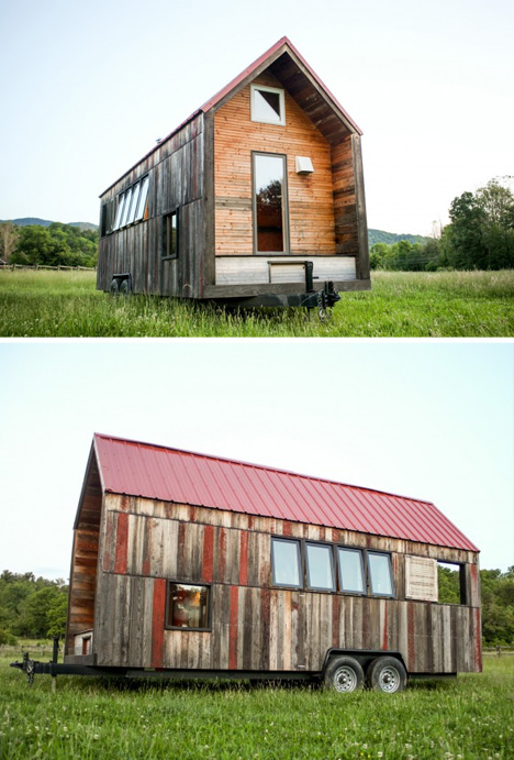 Tiny Home Designs: Recycled Pocket House: Custom Rustic Cabin On Wheels