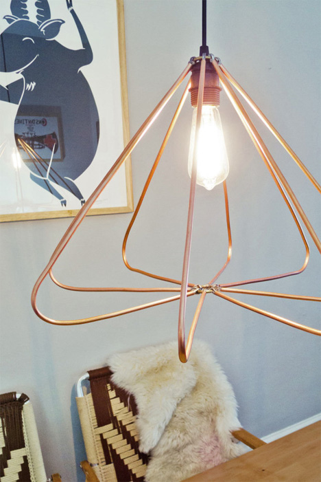Make Your Own Lovely Modern Copper Hanging Light Fixture