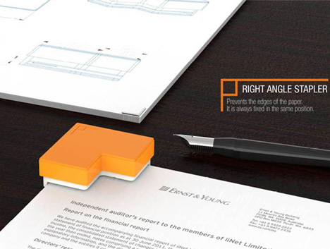 Right-Angled Staples: Simple Twist Reinvents the Stapler