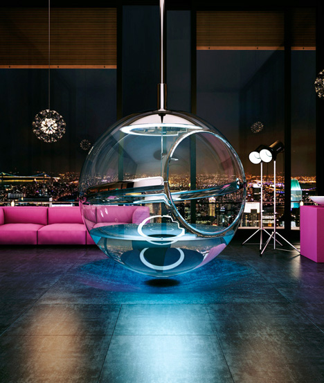Bathing Sphere: Suspended Orb Tub Not for Shy People