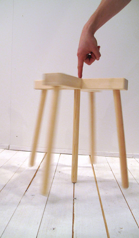 Tiptoe Stool Five Legged Furniture Balances On Three Legs
