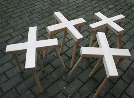 Tiptoe Stool Five Legged Furniture Balances On Three Legs